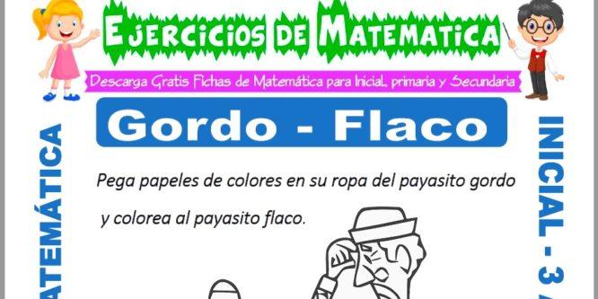 Ficha de Ejercicios de Gordo y Flaco para Inicial de 3 Años