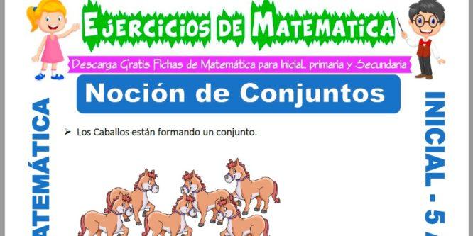 Ficha de Ejercicios de Noción de Conjuntos para Niños de 5 Años