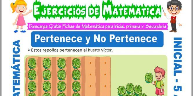Ficha de Ejercicios de Pertenece para Niños de 5 Años