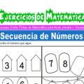 Ejercicios de Secuencia de Números para Inicial de 5 Años
