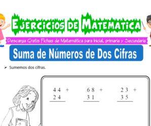 Ejercicios de Suma de Números de dos Cifras para Inicial de 5 Años