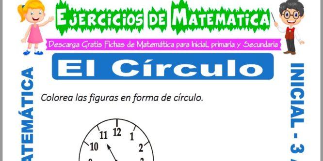 Ficha de Ejercicios de el Circulo para Inicial