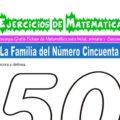 Ejercicios de la Familia del Número Cincuenta para Inicial de 5 Años