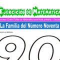 Ejercicios de la Familia del Número Noventa para Inicial de 5 Años