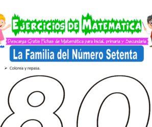 Ejercicios de la Familia del Número Ochenta para Inicial de 5 Años
