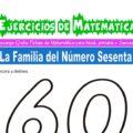 Ejercicios de la Familia del Número Sesenta para Inicial de 5 Años