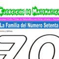 Ejercicios de la Familia del Número Setenta para Inicial de 5 Años