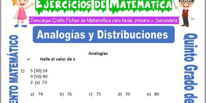 Analogías y Distribuciones para Quinto de Primaria