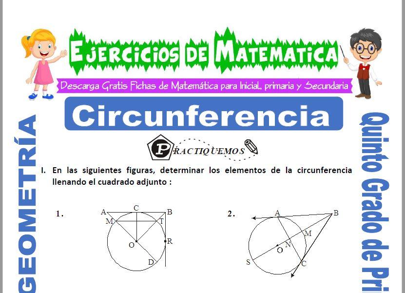 Circunferencia para Quinto de Primaria