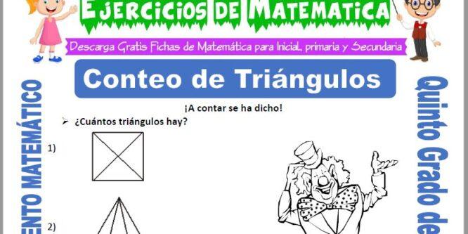 Conteo de Triángulos para Quinto de Primaria