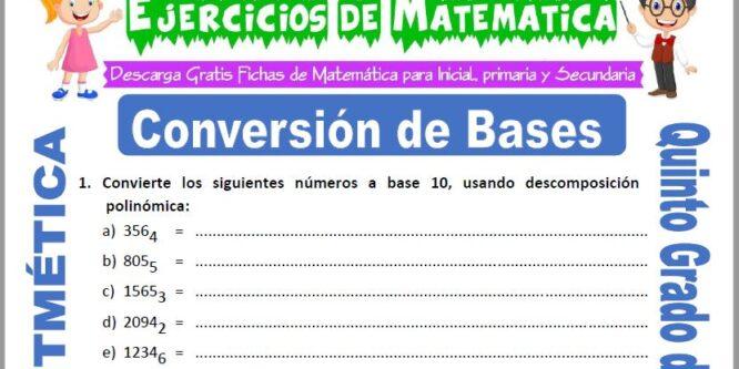 Conversión de Bases para Quinto de Primaria