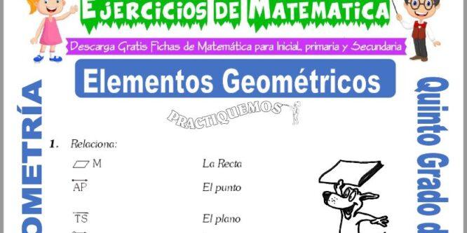 Elementos Geométricos para Quinto de Primaria