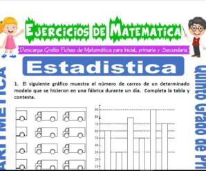 Ejercicios de Estadística para Quinto de Primaria