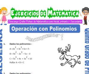 Ejercicios de Operación con Polinomios para Quinto de Primaria