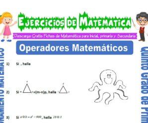 Ejercicios de Operadores Matemáticos para Quinto de Primaria