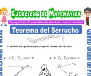 Ejercicios de Teorema del Serrucho para Quinto de Primaria
