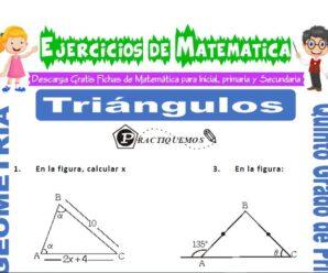 Ejercicios de Triángulos para Quinto de Primaria