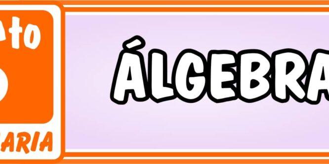 Algebra Quinto de Primaria - Ejercicios de Matemática