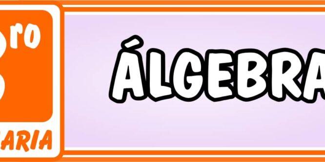 Algebra Tercero de Primaria - Ejercicios de Matemática