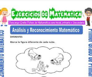 Ejercicios de Análisis y Reconocimiento Matemático para Primero de Primaria
