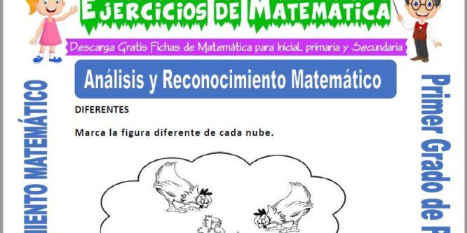 Análisis y Reconocimiento Matemático para Primero de Primaria