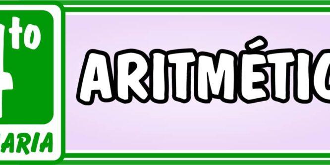 Aritmética Cuarto de Primaria - Ejercicios de Matemática
