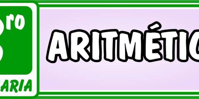 Aritmética Tercero de Primaria - Ejercicios de Matemática