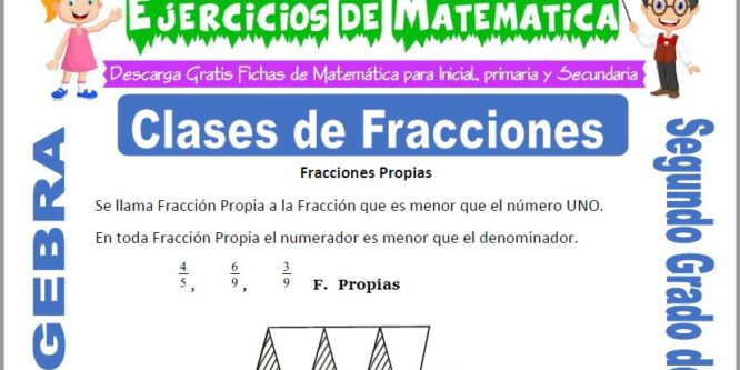 Clases de Fracciones para Segundo de Primaria