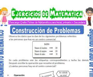 Ejercicios de Construcción de Problemas para Segundo de Primaria