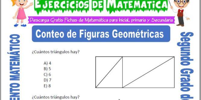 Conteo de Figuras Geométricas para Segundo de Primaria