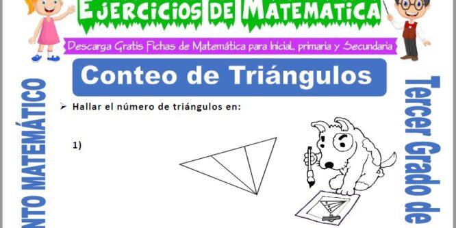 Conteo de Triángulos para Tercero de Primaria