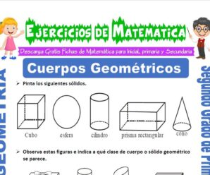 Ejercicios de Cuerpos Geométricos para Segundo de Primaria