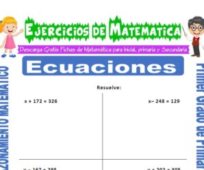 Ejercicios de Ecuaciones para Primero de Primaria