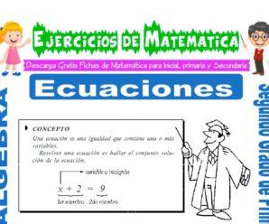 Ejercicios de Ecuaciones para Segundo de Primaria