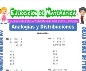 Ejercicios de Analogías y Distribuciones para Sexto grado de Primaria