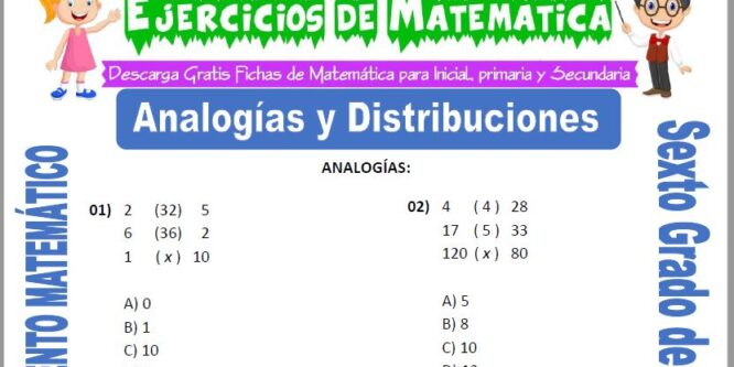 Analogías y Distribuciones para Sexto de Primaria