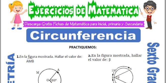 Circunferencia para Sexto de Primaria