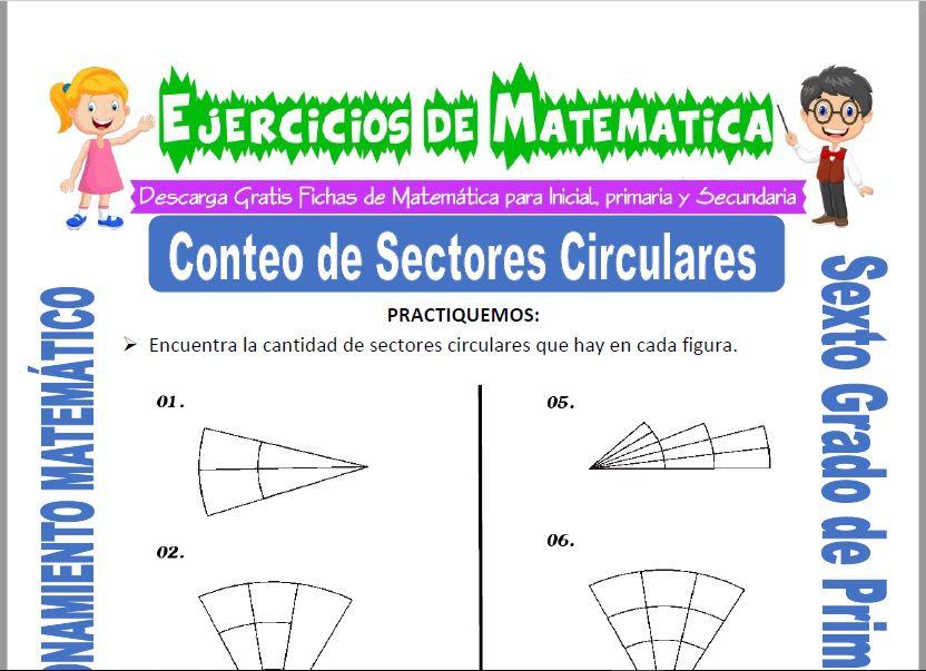 Conteo de Sectores Circulares para Sexto de Primaria
