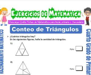 Ejercicios de Conteo de Triángulos para Cuarto de Primaria