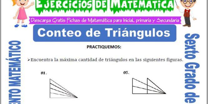 Conteo de Triángulos para Sexto de Primaria