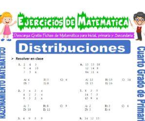 Ejercicios de Distribuciones para Cuarto de Primaria