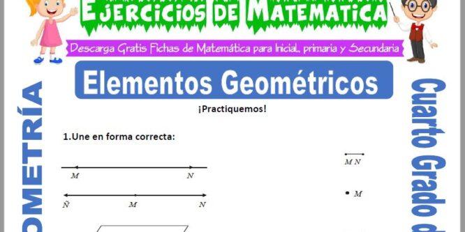 Ejercicios de Elementos Geométricos para Cuarto de Primaria