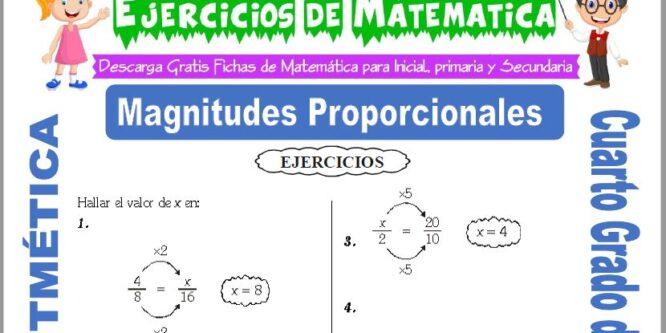 Ejercicios de Magnitudes Proporcionales para Cuarto de Primaria