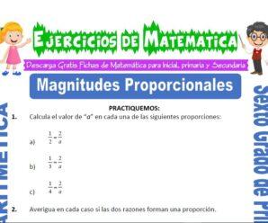 Ejercicios de Magnitudes Proporcionales para Sexto grado de Primaria