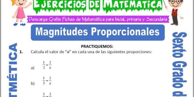 Magnitudes Proporcionales para Sexto de Primaria