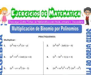 Ejercicios de Multiplicación de Binomio por Polinomios para Sexto grado de Primaria