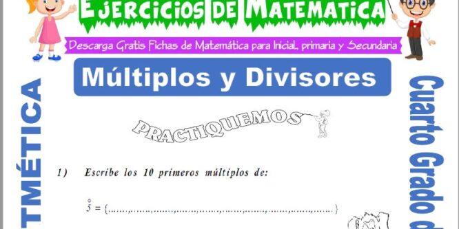 Ejercicios de Múltiplos y Divisores para Cuarto de Priamaria
