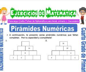 Ejercicios de Pirámides Numéricas para Cuarto de Primaria
