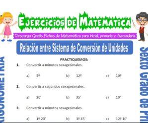 Ejercicios de Relación entre Sistema de Conversión de Unidades para Sexto grado de Primaria