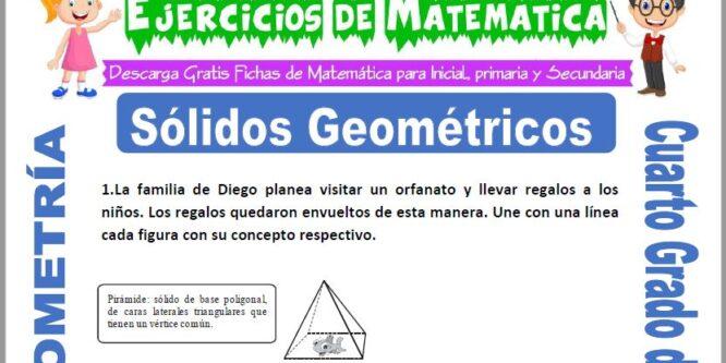 Ejercicios de Sólidos Geométricos para Cuarto de Primaria